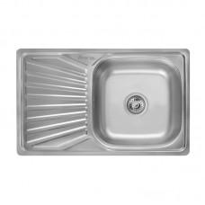 Кухонная мойка LIDZ 7848 Satin 0,8 мм