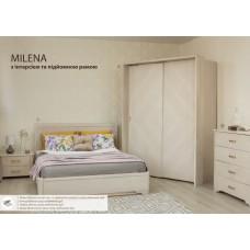 Кровать Милена с интарсией и подъёмным механизмом
