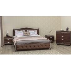 Кровать Прованс с патиной/фрезеровкой и мягкой спинкой ромбы с подъёмным механизмом