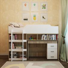 Кровать чердак Микс 190х80 Omni Home